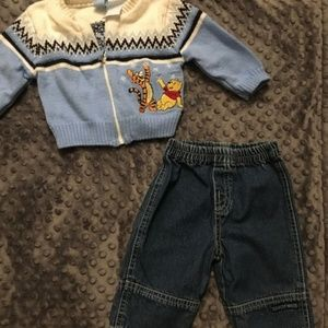 Winnie the Pooh vintage baby boy outfit